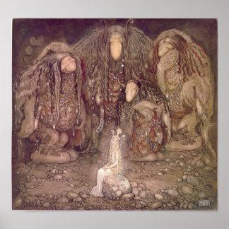 John Bauer - troll Poster