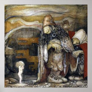 John Bauer troll Poster
