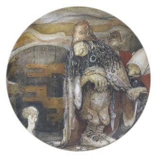 John Bauer troll Tallrik