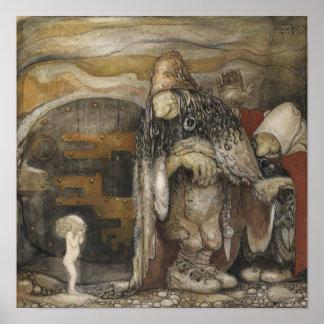 John Bauer trollaffisch Poster