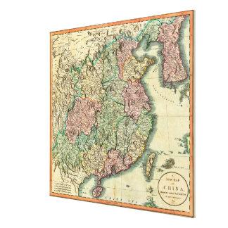 John Cary karta 1801 av chinan och Korea Canvastryck