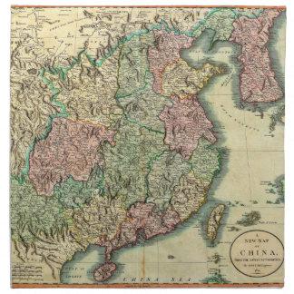 John Cary karta 1801 av chinan och Korea Tygservett