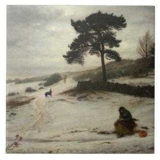 John Everett Millais - vind för vinter för Kakelplatta