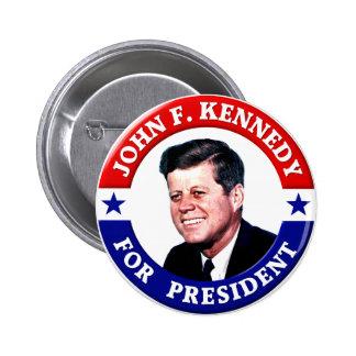 John F. Kennedy för president Standard Knapp Rund 5.7 Cm