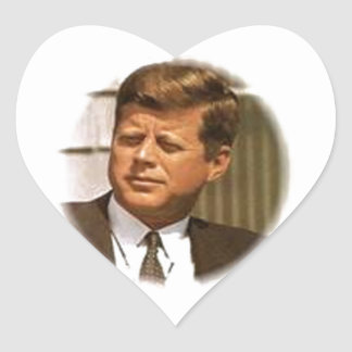 John F. Kennedy Hjärtformat Klistermärke