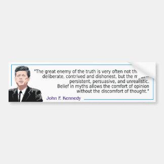John F. Kennedy - Myths Bildekal