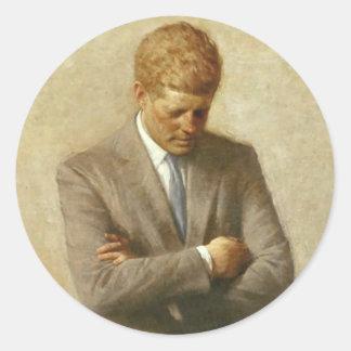 John F. Kennedy objekt Runt Klistermärke