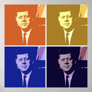 John F. Kennedy popkonst Poster