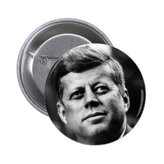 John F. Kennedy porträtt Standard Knapp Rund 5.7 Cm