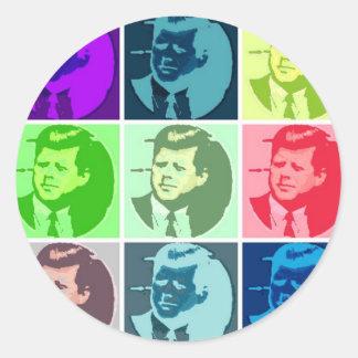 John F. Kennedy Runt Klistermärke