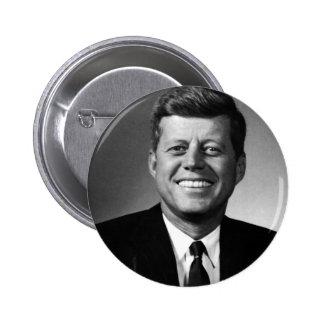 John F. Kennedy Standard Knapp Rund 5.7 Cm