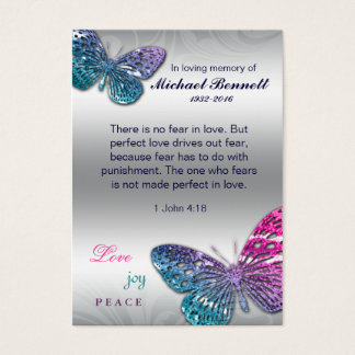 John för minnes- kort för fjäril biblisk 1 4:18