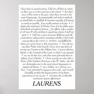 John Laurens Quotationsaffisch Poster