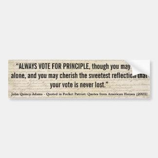 JOHN QUINCY ADAMS röstar alltid med princip Bildekal
