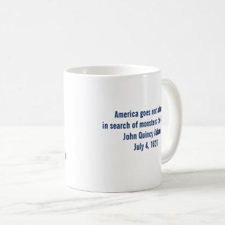 John Quincy Adams samhällemonster som förstör Kaffemugg