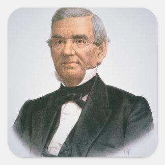 John Ross (1790-1866) (färglithoen) Fyrkantigt Klistermärke