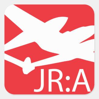 John Ross: Amerikanklistermärkear Fyrkantigt Klistermärke