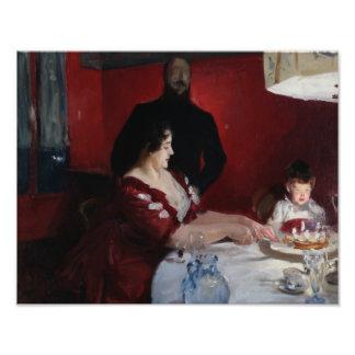 John sångare Sargent - födelsedagsfesten Fototryck