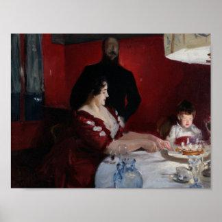 John sångare Sargent - födelsedagsfesten Poster
