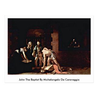 John The Baptist av Michelangelo Da Caravaggio Vykort