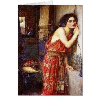 John William Waterhouse (1909) 'Thisbe Hälsningskort