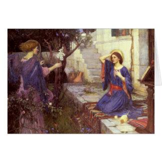 John William Waterhouse - annunciationen Hälsningskort