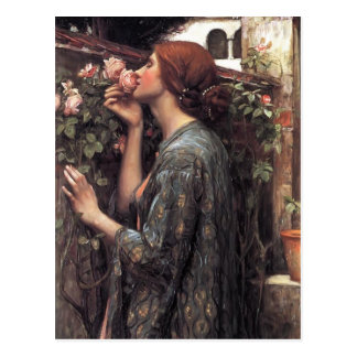 John William waterhouse soulen av ron Vykort
