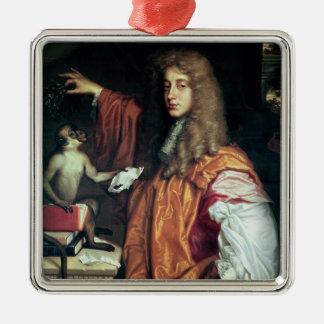 John Wilmot 2nd Earl av Rochester, c.1675 Julgransprydnad Metall