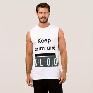 johnmoorevlogs för behållalugn- och vlogskjorta ärmlös t-shirt