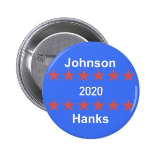 Johnson och kampanjen för härvor 2020 knäppas standard knapp rund 5.7 cm
