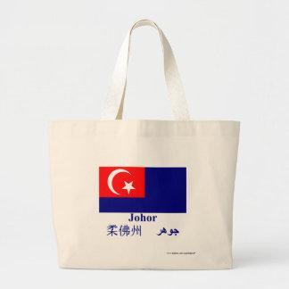 Johor flagga med namn kassar