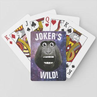 Jokers vild som grinar apan spelkort