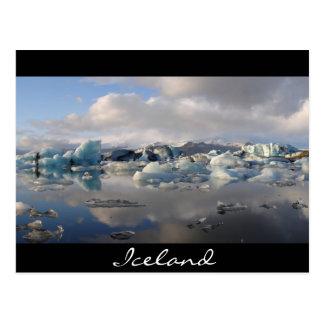 Jokulsarlon glaciärsjö i island vykort