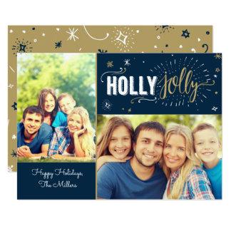 Jolly fotokort för järnek 12,7 x 17,8 cm inbjudningskort