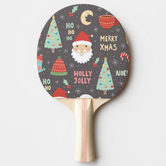 Jolly god jul för järnek pingisracket