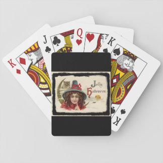 Jolly Halloween för vintage häxa Spelkort