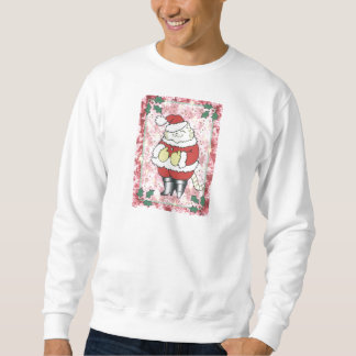 Jolly Herr Santa katt Lång Ärmad Tröja