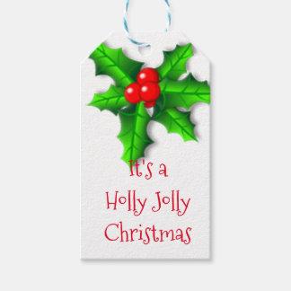 Jolly jul för järnek och för murgrönajärnek presentetikett