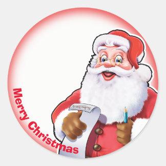 Jolly klistermärke för Santa juletikett