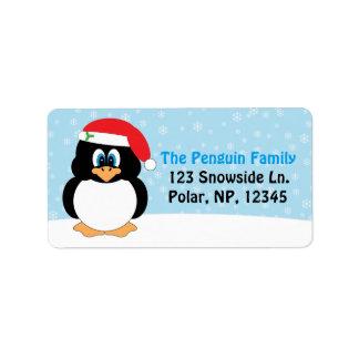 Jolly pingvinjul adressetikett