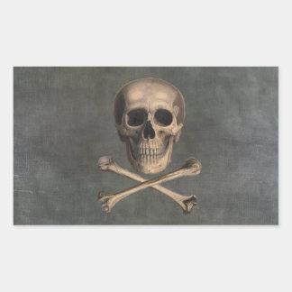 Jolly Roger för vintagepirat klistermärkear Rektangulärt Klistermärke