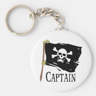 Jolly Roger kapten Rund Nyckelring