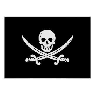 Jolly Roger piratflagga Poster