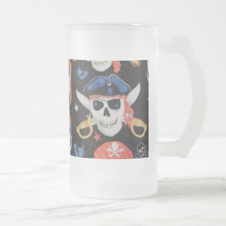 Jolly Roger piratskalle Frostad Glas Mugg