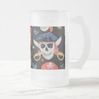 Jolly Roger piratskalle Frostat Ölglas