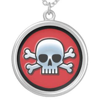 Jolly Roger Silverpläterat Halsband