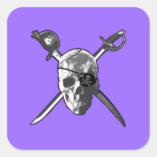Jolly Roger svärd Fyrkantigt Klistermärke