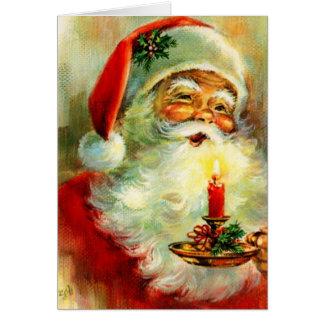 Jolly Santa för vintagejul~ kort