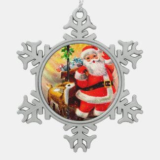 Jolly Santa med lite röd vit för ren Julgranskula