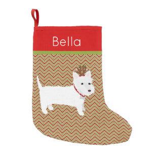 Jolly västra höglands- Terrier Liten Julstrumpa
